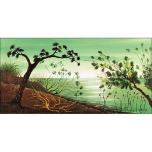 Green sunrise Reproducere, Takira, (50 x 25 cm)
