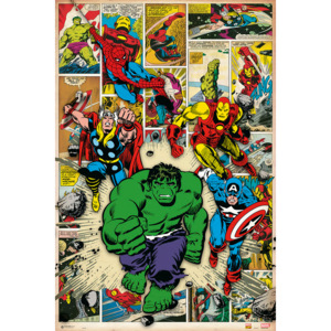 Marvel Comic - Here Come The Heroes Poster, (61 x 91,5 cm)