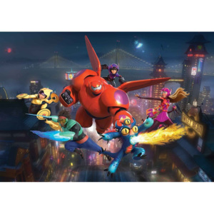 Disney Big Hero 6 Fototapet, (104 x 70.5 cm)