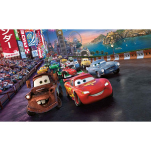 Papel de parede Disney Cars Lightning McQueen Mate