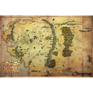 The Hobbit - Journey Map Poster, (91,5 x 61 cm)