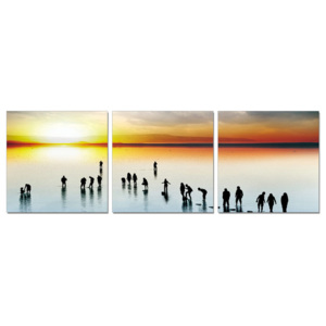 Silhouette at sunset Tablou, (120 x 40 cm)