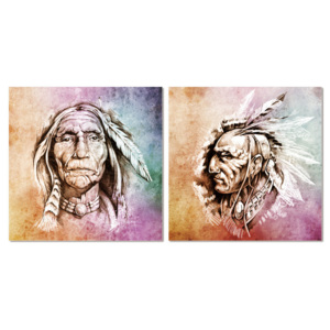 American Indian painting Tablou, (120 x 40 cm)