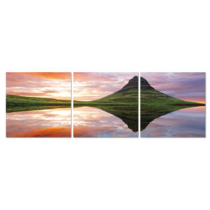 Mirroring the landscape on the lake Tablou, (120 x 40 cm)