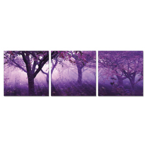 Trees in purple Tablou, (150 x 50 cm)