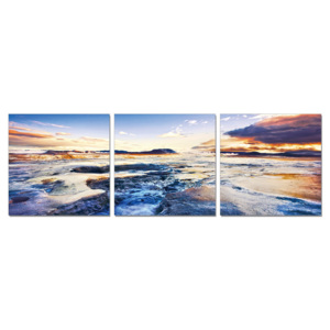 The tide in sunset Tablou, (210 x 70 cm)