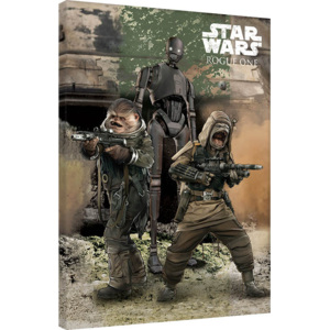 Rogue One: Star Wars Story - Pao, Bistan & K-2S0 Tablou Canvas, (60 x 80 cm)