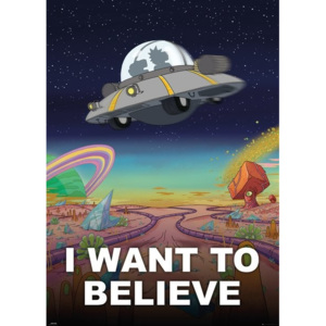 Rick and Morty - I Want to Believe Poster, (100 x 140 cm)