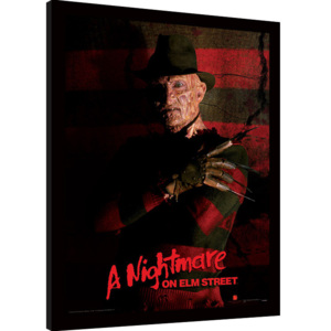 A Nightmare On Elm Street - Freddy Krueger Afiș înrămat