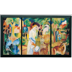 Zoological Garden, 1914 Reproducere, Macke August, (80 x 60 cm)