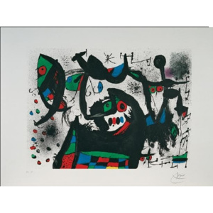 Homage to Joan Prats, 1975 Reproducere, Joan Miró, (80 x 60 cm)