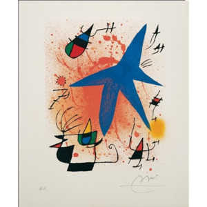 Blue Star, 1972 Reproducere, Joan Miró, (60 x 80 cm)