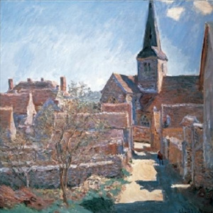 Bennecourt, 1885 Reproducere, Claude Monet, (80 x 60 cm)