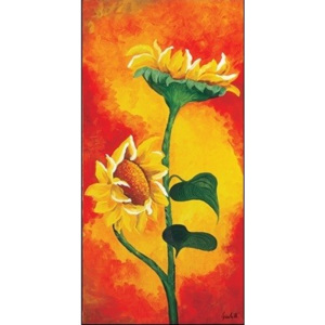 Two Sunflowers Reproducere, Maria Teresa Gianola, (50 x 100 cm)