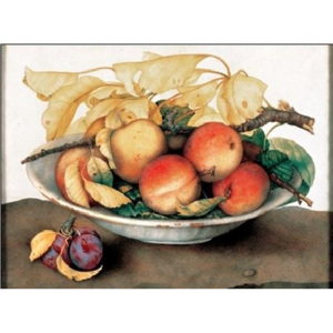 Bowl with Peaches and Plums Reproducere, Garzoni, (70 x 50 cm)