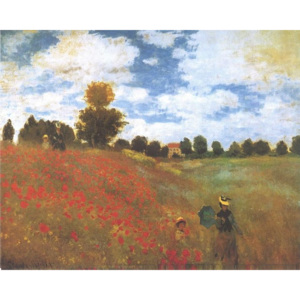 Poppies, Poppy Field, 1873 Reproducere, Claude Monet, (30 x 24 cm)