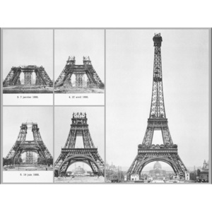 Paris - Construction of Eiffel tower Reproducere, ALAN SCHEIN PHOTOGRAPHY, (80 x 60 cm)