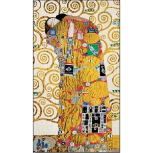 The Fulfillment (The Embrace) - Stoclit Frieze, 1909 Reproducere, Gustav Klimt, (24 x 30 cm)