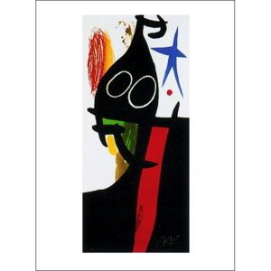 The Saracen With The Blue Star Reproducere, Joan Miró, (60 x 80 cm)
