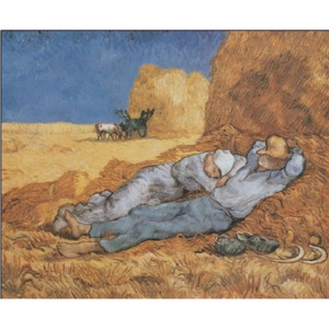 Noon: Rest from Work, 1890 Reproducere, Vincent van Gogh, (50 x 40 cm)