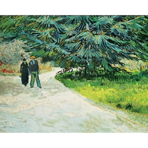 Public Garden with Couple and Blue Fir Tree - The Poet s Garden III, 1888 Reproducere, Vincent van Gogh, (80 x 60 cm)