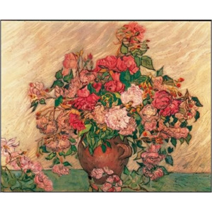 Vase with Pink Roses, 1890 Reproducere, Vincent van Gogh, (30 x 24 cm)
