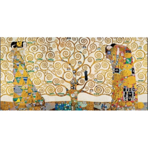 The Tree Of Life, The Fulfillment (The Embrace), The Waiting - Stoclit Frieze, 1909 Reproducere, Gustav Klimt, (100 x 50 cm)