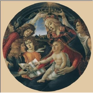 Madonna of the Magnificat, 1481-85 Reproducere, Botticelli, (50 x 50 cm)