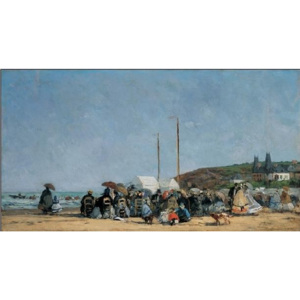 The Beach at Trouville Reproducere, Boudin, (100 x 50 cm)