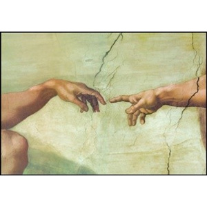 The Creation of Adam (Part) Reproducere, Michelangelo Buonarroti, (80 x 60 cm)