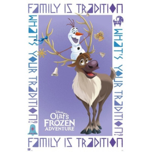 Olaf Frozen Adventure Olaf & Sven Poster, (61 x 91,5 cm)