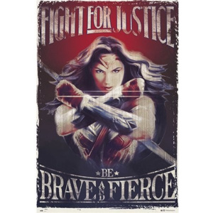 Wonder Woman Fight For Justice Poster, (61 x 91,5 cm)
