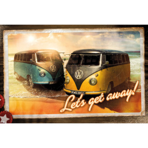 VW Camper - Let's Get Away Poster, (91,5 x 61 cm)