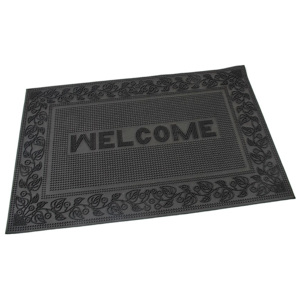 Covoraş de intrare tip perie Welcome - Leaves, 40 x 60 cm