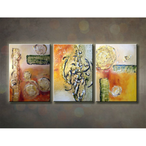 Tablou pictat manual ABSTRACT 3-piese 120x50cm (tablouri)