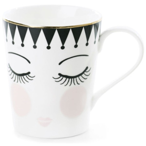 Cană din ceramică Miss Étoile Coffee Eyes and Dots, Ø 8 cm