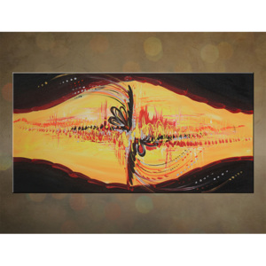 >Black Friday 50%< Tablou pictat pe canvas DeLUXE - ABSTRACT 1 piesă 80x40 cm 021D1/24h ()