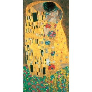 The Kiss (part) Reproducere, Gustav Klimt, (70 x 70 cm)