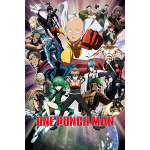 One Punch Man - Collage Poster, (61 x 91,5 cm)