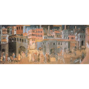 Effect of the Good Government on City and Country Life Reproducere, Ambrogio Lorenzetti, (139 x 60 cm)