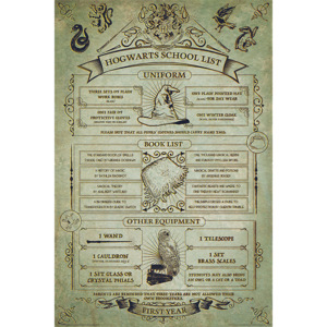 Harry Potter - Hogwarts School List Poster, (61 x 91,5 cm)