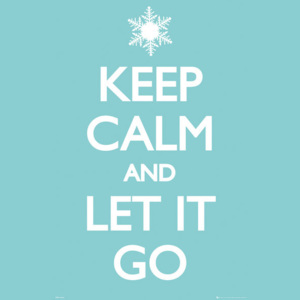 Keep Calm and Let it Go Poster, (61 x 91,5 cm)