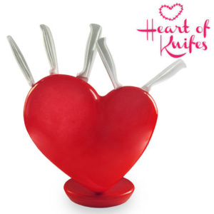 Set Cuțite cu Bloc Cuțite Heart of Knifes