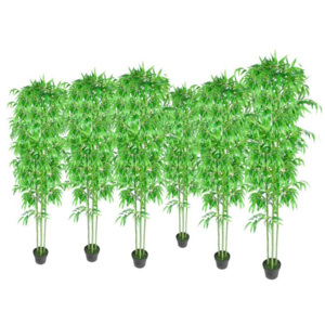 Set 6 decorațiuni plante bambus artificiale