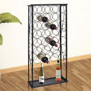 Suport sticle de vin pentru 28 de sticle, metal