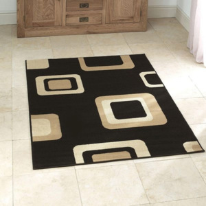Covor Think Rugs Diamond, 120 x 170 cm, negru