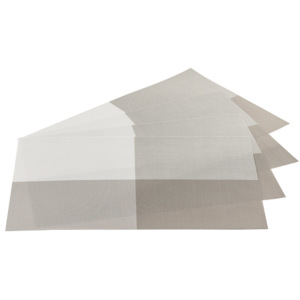 Suport farfurie DeLuxe, gri, 30 x 45 cm, set 4 buc