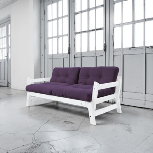 Canapea extensibilă Karup Step White/Purple