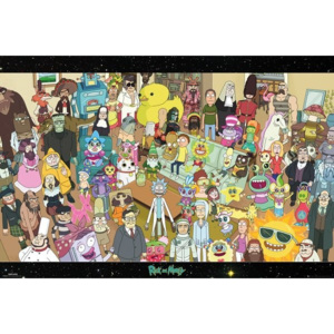 Rick and Morty - Cast Poster, (91,5 x 61 cm)