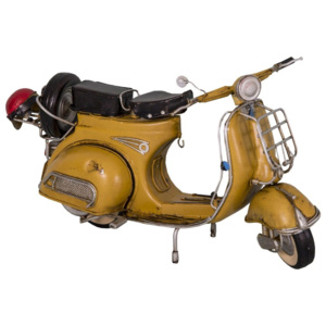 Scuter decorativ Antic Line Yellow Scooter